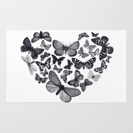 BUTTERFLY LOVE MONO Rug
