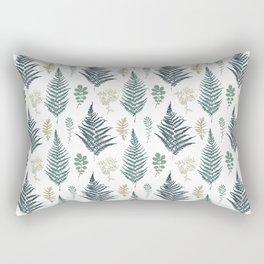 turquoise fern pattern Rectangular Pillow