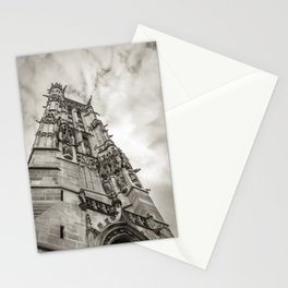 Gothic tower against the sky Stationery Cards