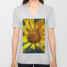 Horicon Marsh Sunflower Unisex V-Neck