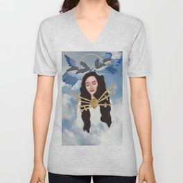 Angelic Del Rey Unisex V-Neck