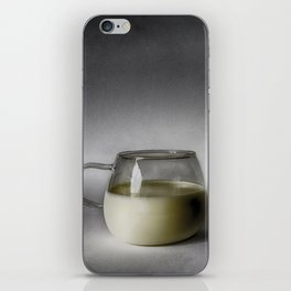 Still life with a cup of milk iPhone Skin
