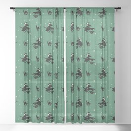 Lil Witch Sheer Curtain
