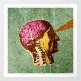 Brain Scan Art Print