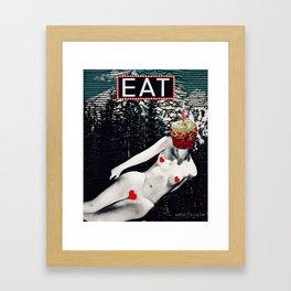 Je te mangerais Framed Art Print