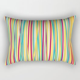 Colored Lines #6 Rectangular Pillow
