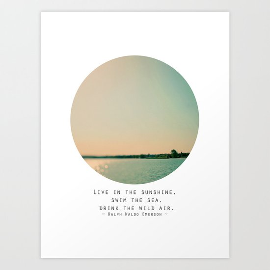Swim The Sea Art Print