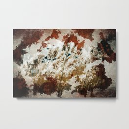 Coffee Stained Parchment Paper Metal Print