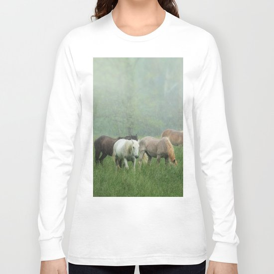 Out in the rain Long Sleeve T-shirt