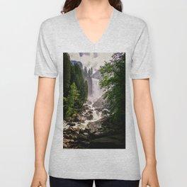 Yosemite Waterfall Unisex V-Neck