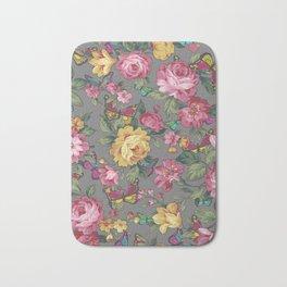 june butterflies & roses Bath Mat