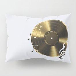 Gold LP Vinyl Record Pillow Sham