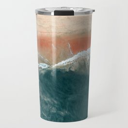 Tropical Drone Beach Photography Travel Mug