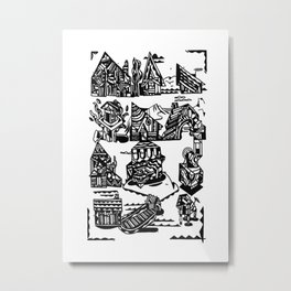 MAISONS Metal Print