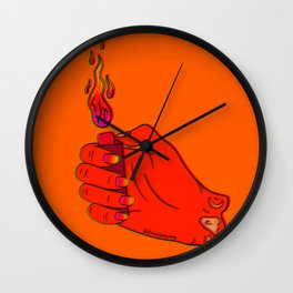Lit Lighter Wall Clock