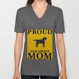 Proud Black Labrador Mom Unisex V-Neck