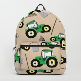 Tractor Truck Pattern Farm Equipment Backpack