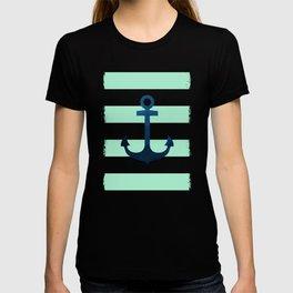 Anchor on Mint Stripes T-shirt