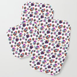 colorful fall floral Coaster