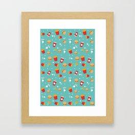 Burgers pattern Framed Art Print