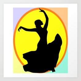 Flamenco Dancer Sun Multi Art Print