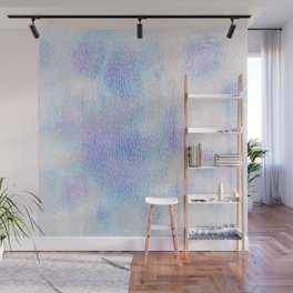 White Dots + Iridescence Blue Wall Mural