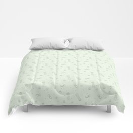 Jellyfish in Green Comforters