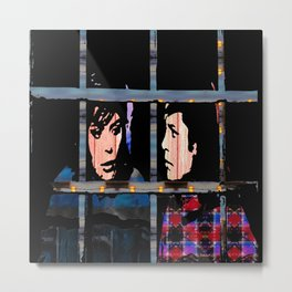 We See The Stars From Behind These Bars Metal Print