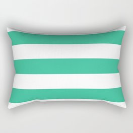 Mountain Meadow - solid color - white stripes pattern Rectangular Pillow