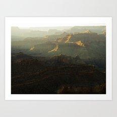 The Grand Canyon Sunset Art Print