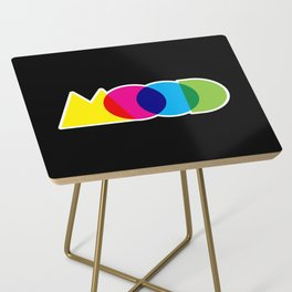 Mood Meme Colorful Geometric Typography Side Table