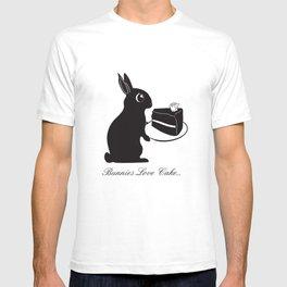 Bunnies Love Cake, Bunny Illustration, cake lovers, animal lover gift T-shirt