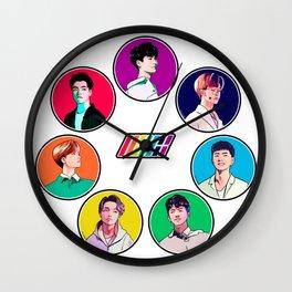 iKON Rainbow Wall Clock
