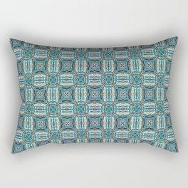 Turquoise Weave Pattern Rectangular Pillow