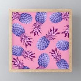 Violet pineapples Framed Mini Art Print