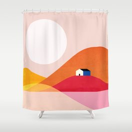 Abstraction_Mountains_Simple_House_Minimalism Shower Curtain