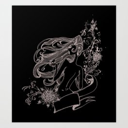 Wine Woman Art Print