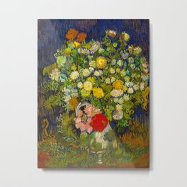 Bouquet of Flowers in a Vase Vincent van Gogh Oil on canvas 1890 Metal Print