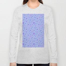 Atomic Starry Night in Purple Long Sleeve T-shirt