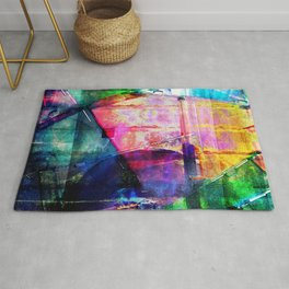 Colorful CD Cases Collage Rug