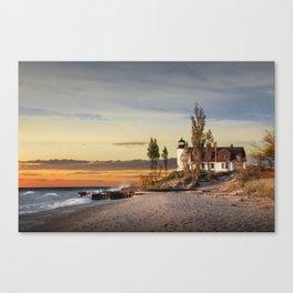 Point Betsie Lighthouse at Sunset Canvas Print