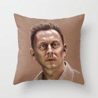 ben giles Throw Pillows featuring Ben by Jackie Sullivan
