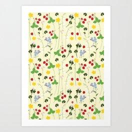 Blomster Art Print
