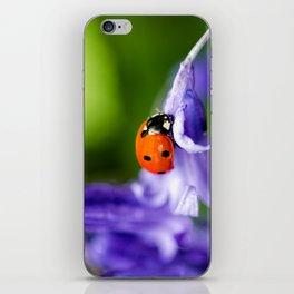 Ladybird on Bluebell iPhone Skin