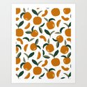 Mid Century Modern Abstract Oranges by betterhome