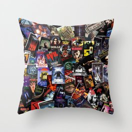 Classic Horror Movie Posters Throw Pillow