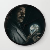 cosmos Wall Clocks featuring Cosmos by mycolour