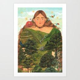 COLOMBIA Art Print
