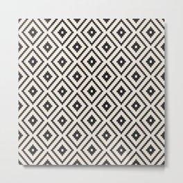 N89 - Farmhouse & Rustic Moroccan Style Pattern Design. Metal Print