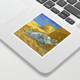 Vincent Van Gogh - The Siesta Sticker